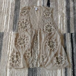 Chico's Beaded Lace Vest